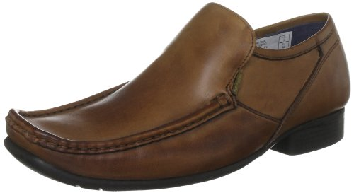 Hush Puppies Men's Crotone Dark Tan Leather Slip On Shoe H1369302D 10 UK, 45 EU
