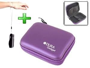 Housse coque violette rigide pour appareils photos numériques Nikon Coolpix S6500, L25 & S2700 + poignée bonus
