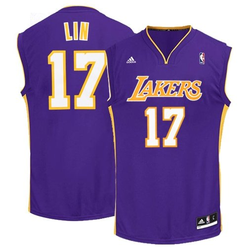 Jeremy Lin Los Angeles Lakers Purple NBA Youth Revolution 30 Replica Away Jersey (Medium 10/12) (Jeremy Lin compare prices)