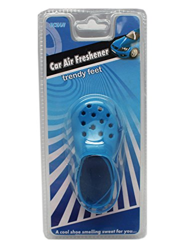 Small Blue Trendy Feet Instant Car Air Freshener (Ocean Scent)