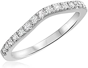 13 Carat TW Round Cut Diamond Ladies Wedding Band 10K White Gold