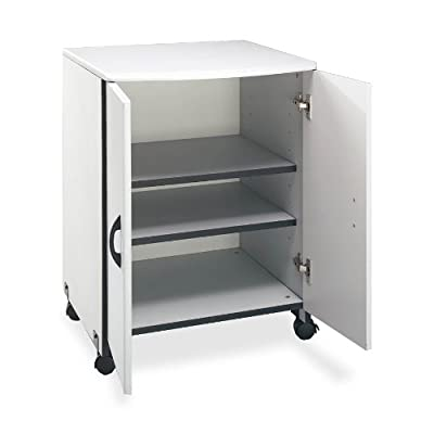 Buddy Products Wood Laser Printer and Copier Stand, 23 x 31.125 x 23 Inches, Gray (9141-18)