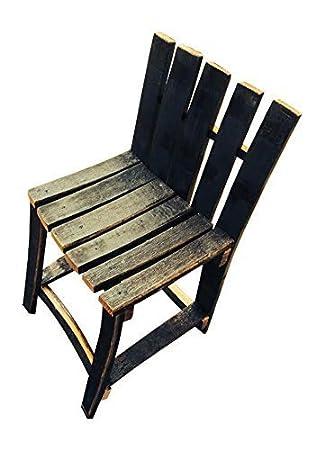 Hecho a mano madera maciza de roble rústico de madera de la silla barril de whisky barril de los muebles