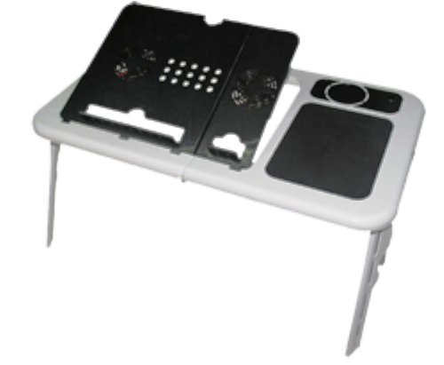 E-Stand Black & White Laptop Table