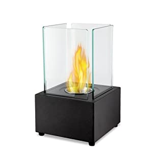 De Vielle DEF760966 Real Flame Bio Ethanol Fire Fireplace Firebox Square