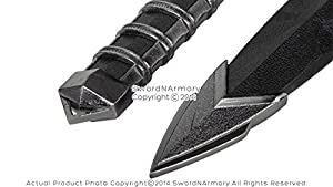 11.5 Dark Assassin Medieval Dagger Short Sword Blade with Sheath LARP Cosplay