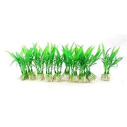 10Pcs Green Artificial Plastic Fish Tank Water Plant Grass