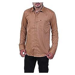 Austrich Men's Casual Shirt (11004_Coffee_42)