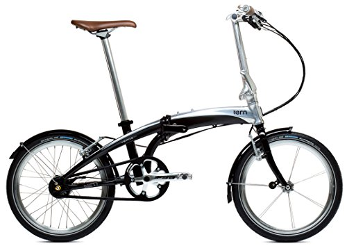tern (turn) Verge S11i 2015-20 inch folding bicycle [with 11 speed, front and rear lights, fenders, rear rack black / polished 15VRS1BKPL