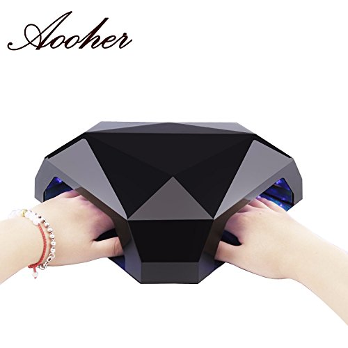 Aooher 48W LED Nail Dryer New Products Multifunction Diamond Shaped LED Lamp For Two Hands or Feet Nail Tools (Dryer Nails Machine Melody Susie compare prices)