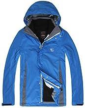 LANGZUYOUDANG Men39s Detachable Hiking Rain Jacket Warm Waterproof - Blue - M