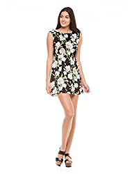 Shuffle Women's A line Dress (1021511301_Multi Color_Small)