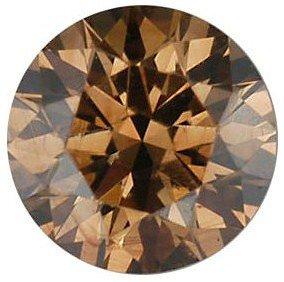 Round Shape Genuine Diamond Cognac Color - VS Clarity 0.2 carats 3.80 mm