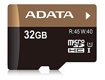 AData Premier Pro 32GB MicroSDHC UHS-1/U1 (45MB/s) Memory Card (With Adapter)