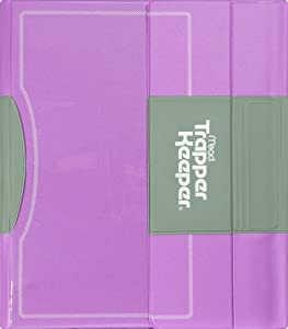 Trapper keeper binder 1 5 inch purple 26070 portfolio ring binders office for Trapper keeper 2 sewn binder with exterior storage