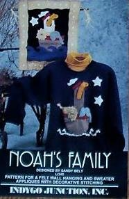 Noah's Family by Sandy Belt: Pattern for Felt Wall Hanging and Sweater