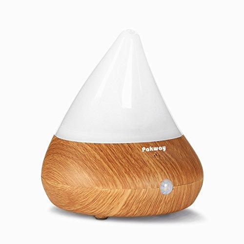 Pakway Smart Aromatherapy Essential Oil Diffuser-Portable Ultrasonic Cool Mist Aroma Humidifier with Waterless Auto Shut-Off (WOOD GRAIN) (Smart Sense Moisture Sensor compare prices)