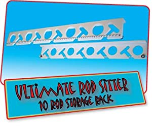 Ultimate Rod Sitter - 10 Fishing Rod Storage Rack from ColdTuna