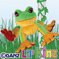 Lil Kinz Tree Frog & 3 Packs of Trading Cards [Toy]