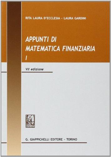 Appunti di matematica finanziaria: 1