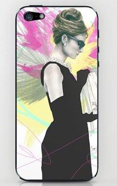 並行輸入品オードリー・ヘップバーン society6 iphone 6/6plusステッカー (iphone 6plus, Audrey7)