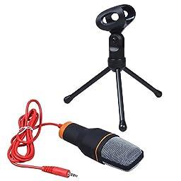 Tumo Professional Condenser Sound Podcast Studio Microphone for Pc Laptop Skype MSN