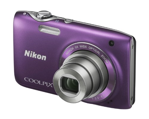Nikon COOLPIX S3100 Compact Digital Camera - Purple (14MP, 5x Optical Zoom) 2.7 inch LCD