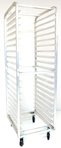 "Magna Industries 4612E Standard-Duty Aluminum End-Load Bun Pan Rack With Plate Casters, 20-1/2"" Width X 70"" Height X 26"" Depth, 20 Shelves front-287578"