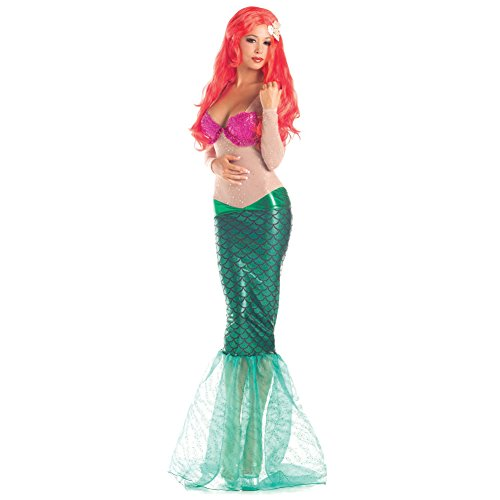 Ariel Womens Costume The Little Mermaid Disney Adult Sexy Sea Princess Cosplay