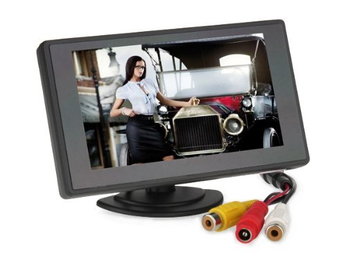 Sunnvalleytek 4.3 Inch Tft Lcd Digital Car Rear View Monitor With 360 Swivel Stand
