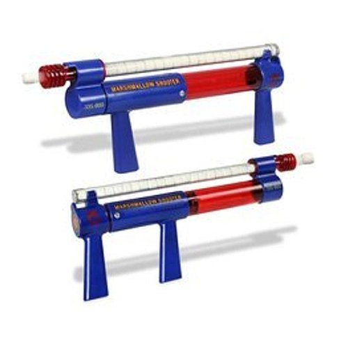 Marshmallow Twin Shooter in Blue and Red