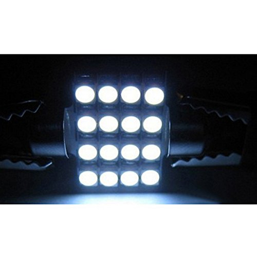 Moon Gazer 4/10 Pieces 42Mm 16Smd White /Blue/Green High Quality Universal Vehicle Auto Truck Suv Car Interior Car Led Styling Lighting Double Tip Festoon Dome Led Light Bulbs Lamp/Reading Lights Bulbs/Car License Plate Lamp/Luggage Compartment Lights Bul