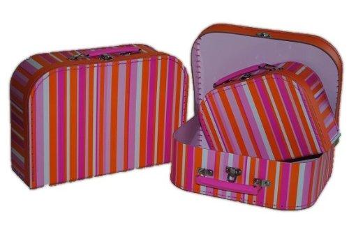 3 tlg. Set Kinderkoffer Groß Mittel Klein pink