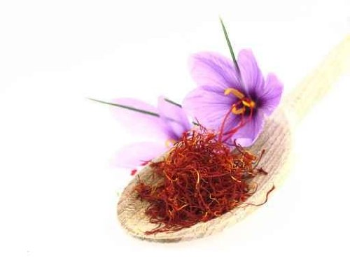 Dried Saffron Spice and Saffron Flowers - 60