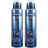 Nivea Cool Kick Deo For Men Spray 48 Hr Antiperspirant 150ml (Pack Of 2)