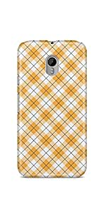 Casenation Yellow Checks Pattern Motorola Moto G3 Matte Case