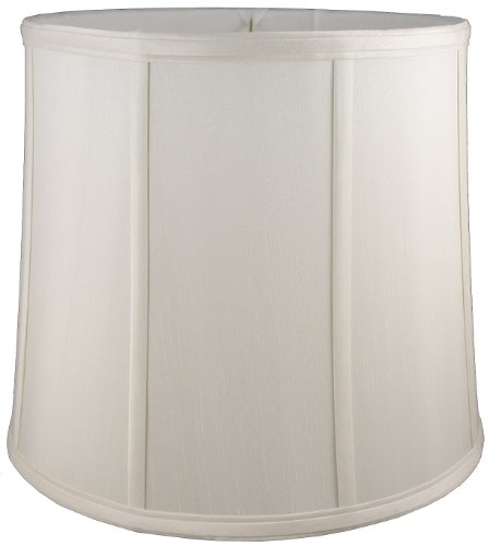 American Pride Lampshade Co. 19-78090518 Round Soft Tailored Lampshade, Shantung, Off-white
