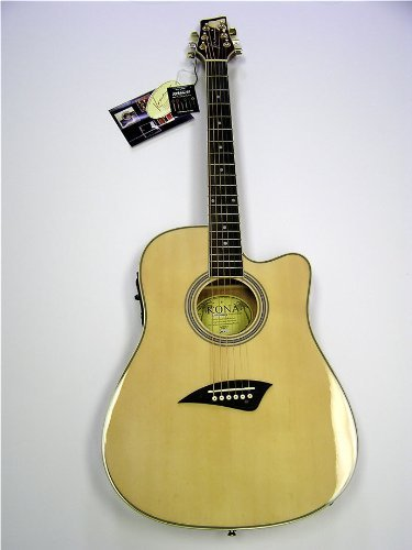 K2 Series Thin Body Electric/Acoustic Guitar &#8211; Natural