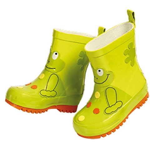 Baby-Natural-Rubber-Wellies-Maximo-Children-Rubber-Boots-Boot-Lining-40-CO-23430-with-Frog-Design-Each-is-Unique