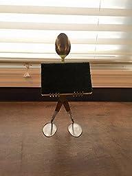 sponge holder, business card holder, cell phone holder spoon and fork metal sculpture