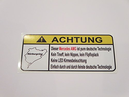 mercedes-amg-pure-deutsche-technologie-lustig-warnung-aufkleber-decal-sticker
