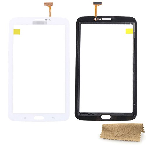 Tab 3 7.0 SM-T211 Touch Screen Digitizer Front Lens GG MALL Replacement Parts for Samsung Galaxy T211 3G Cellular with Earpiece Hole (LCD Not Included) White