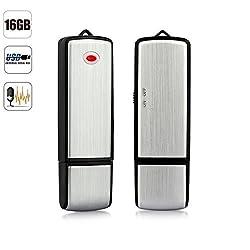 Cleyton 16gb USB Flash Drive Mini Digital Audio Voice Recorder- Dictaphone- Memory Stick- Data Pendrive Activated- Spy Gear Gadget- Discreet
