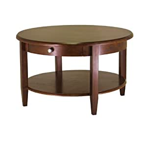 Concord round coffee table with drawer and for Coffee tables on amazon