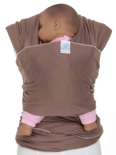 Moby Wrap Original 100% Cotton Baby Carrier, Cafe front-710150