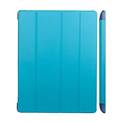 iPad Case,iPad 2 case,iPad 3 case,iPad 4 case,[Ultra Slim][Ultralight]Slim-Fit Folio Smart Cover & Back Case For Apple iPad 4/ipad 3(3rd and 4th Generation with Retina Display)/ipad 2 by TRAVELLOR