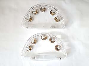 タンバリン 光る LED イベント,パーティー ,カラオケ (2個)