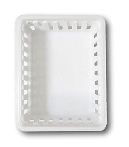 Basic Square Mini Bin Storage Trays White 6pk By
