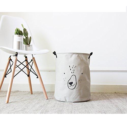 Inwagui Panier à Linge Sale en Tissu Rangement et Organisation Pliable Laundry Buanderie Rangement et Organisation 35*40cm-Gris