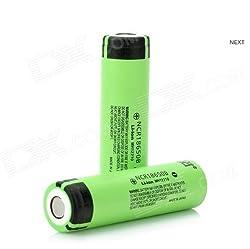 2PCS 18650 NCR18650B 3.7V 3400mAh Rechargeable Li-ion Battery Flat Top for Panasonic